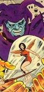 Janet captive of Attuma on the cover of Avengers #26.