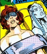 From Avengers #162: Janet captive of Ultron while her lifeforce has being transferred in the Jocasta's cold mechanical body.
