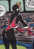 From Avengers #312: the magenta version of the costume.